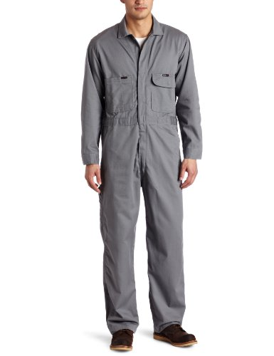 - Key Apparel Men's Fire Resistant Long Sleeve Deluxe Coverall, Medium Grey, 50 Tall