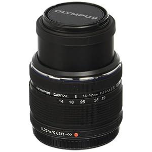 Olympus M.Zuiko 14-42mm f/3.5-5.6 Ver. II R, Interchangeable Lens for Olympus / Panasonic Micro 4/3 Cameras, Black
