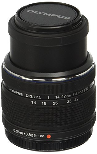 Olympus 14-42mm f/3.5-5.6 Ver. II R, Interchangeable Lens for Olympus / Panasonic Micro 4/3 Cameras, (Olympus Imaging Kit)