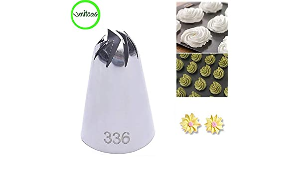 Amazon.com   336 Large Size Icing Piping Nozzle Cake Cream Decoration Head Bakery  Pastry Tips Stainless Steel Dessert Decor Tools Supplies  Kitchen   Dining b7e11781abe1