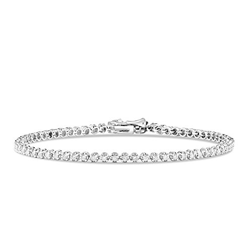 Diamond 14k Gold Tennis Bracelet - 9