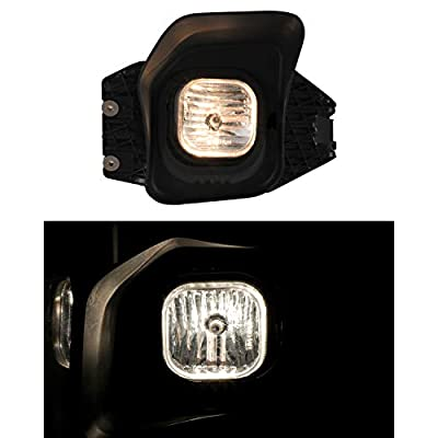 Fog Lights for 2011-2016 Ford F-250/ F-350/ F-450/ F-550(SUPER DUTY) with Bulbs H10 12V 42W AUTOFREE OE Fog Lamps Replacement Wiring Kit & Switch Included- 1 Pair(Clear Lens): Automotive