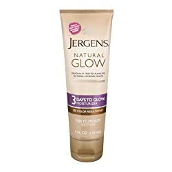 Jergens Natural Glow 3 Days to Glow Moisturizer, Fair to Medium 4 oz (Pack of 2)