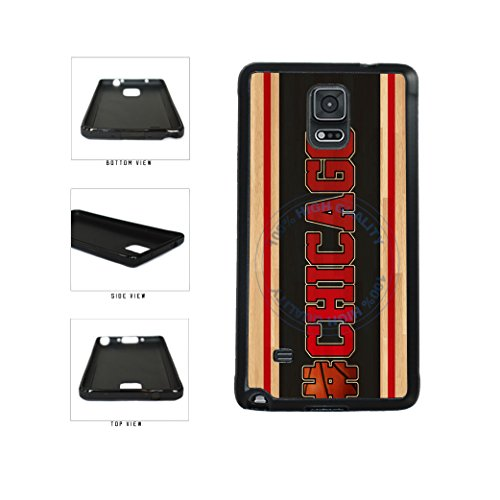 BleuReign(TM) Basketball Team Hashtag Chicago #Chicago TPU RUBBER SILICONE Phone Case Back Cover For Samsung Galaxy Note IV 4 N910