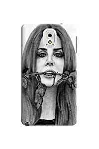Durable case tpu skin hard case cover for Samsung Galaxy note3(Lana Del Rey) by Kathleen Kaparski