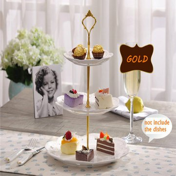 Bakeware & Accessories - Plate Stand Silver Gold Wedding Party Crown Rod - Place Upright View Tie-Up Rack Photographic Bandstand Viewpoint Standpoint Sales Booth Outdoor Stage - 1PCs