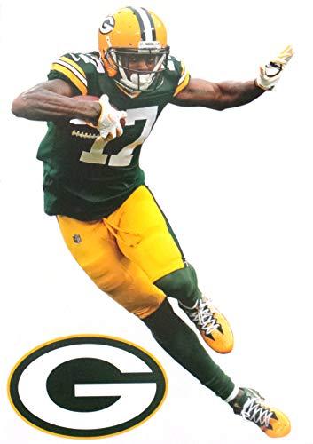 "FATHEAD Davante Adams Mini Graphic + Green Bay Packers Logo Official NFL Vinyl Wall Graphics 7"" INCH"