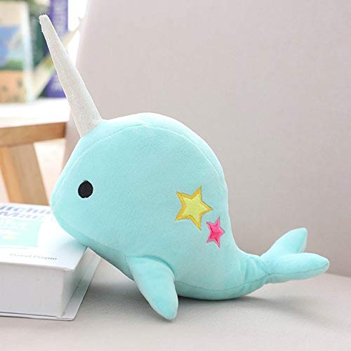 LAJKS Yesfeier 25/35Cm Narwhal Stuffed Soft Animal Whale Plush Toy Kids Dolls for Children Birthday Teen Must Haves 5 Year Old Girl Gifts Favourite Movie Superhero Stickers Must Have Tools