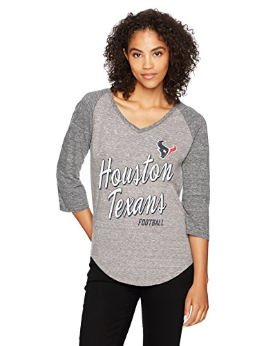 NFL Houston Texans Women's Ots Triblend Raglan Distressed Tee, Large, Vintage Grey]()