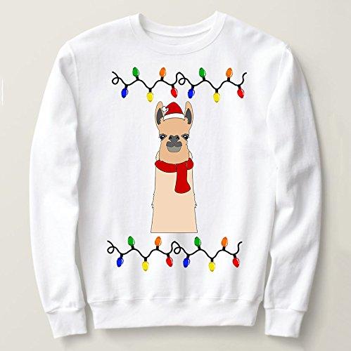 129ad2d94 Amazon.com  Festive Llama Ugly Christmas Sweater