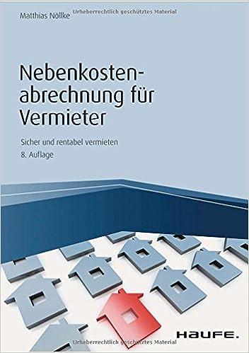 Nebenkostenabrechnung Fur Vermieter Haufe Fachbuch Matthias