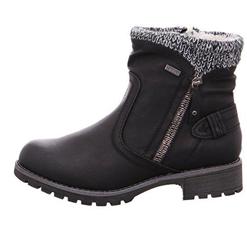 Jana 26420-001 Black (Man-Made) Womens Boots Black sfQapEp