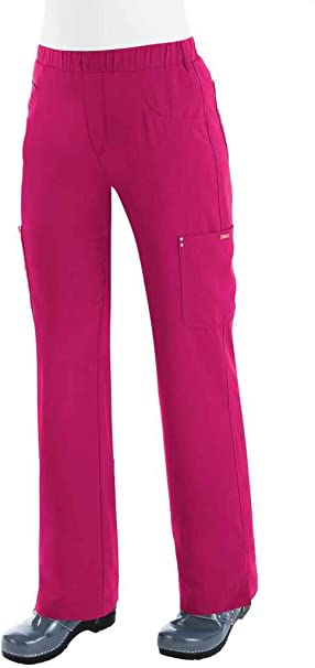 bb573b075d4 koi Sapphire Women's Lilian High Waist Scrub Pants X-Small Tall Lipstick