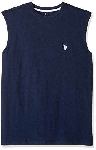 Iconic Muscle Tee - U.S. Polo Assn. Mens Classic Muscle T-Shirt, 6411-Classic Navy, M