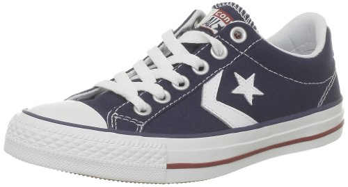 Unisex Star Canv Navy Child Ox Converse Navy Trainers White Red Player Core OqZwd