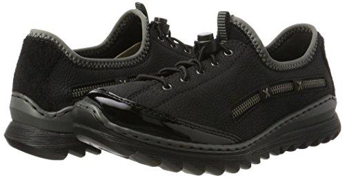 Basses Sneakers schwarz M6264 schwarz schwarz schwarz Rieker grey Femme Noir q5EZYA