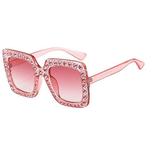 Fenleo Womens Fashion Sunglasses, Artificial Diamond Cat Ear Quadrate Metal Frame Brand - Sunglasses Cheap For Women Fashion