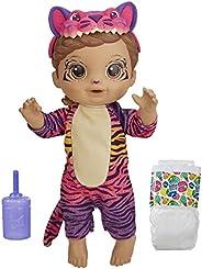 Boneca Baby Alive que Bebe e Faz Xixi - Rainbow Wildcats Tigre (Exclusivo da Amazon) - F1231 - Hasbro
