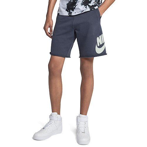 NIKE Sportswear Men's Logo Shorts (Thunder Blue/Barely Grey, S)