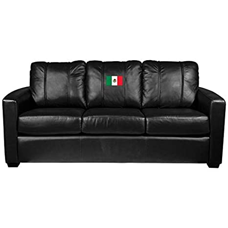 Cool Amazon Com Silver Sofa With Mexican Flag Logo Panel Evergreenethics Interior Chair Design Evergreenethicsorg