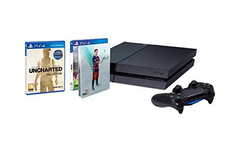 PlayStation 4 – Consola 1TB [CUH-1216B] + FIFA 16 con Steelbook (solo en Amazon) + Uncharted: The Nathan Drake Collection