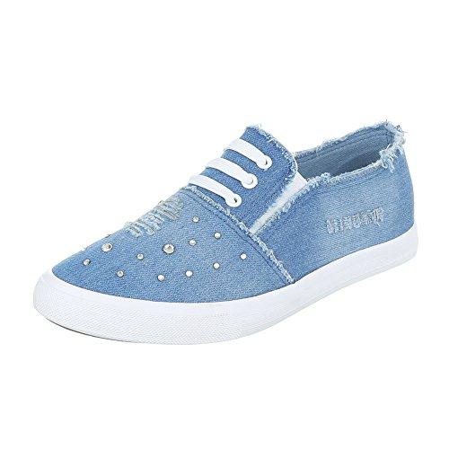 Ital-Design - Zapatillas de casa Mujer Azul