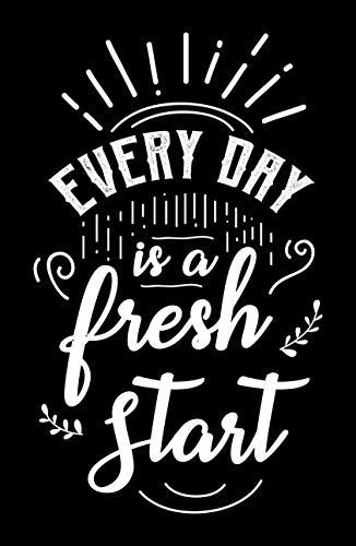 Damdekoli Fresh Start Motivational Poster, 11x17 Inches, Wall Art, Hustling, Entrepreneur Decoration, Inspirational Business Print -