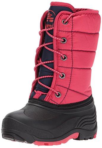 (Kamik Girls' Cady Snow Boot, Dark Rose/Navy, 13 Medium US Little Kid)