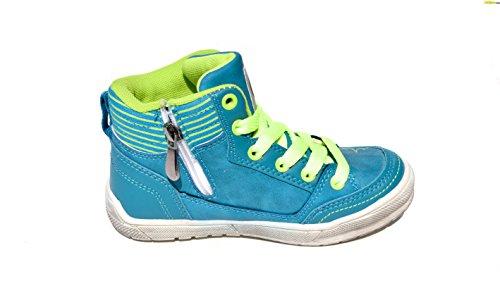 BTS - Zapatillas de Piel para niño Varios Colores - Türkis/ Gelb