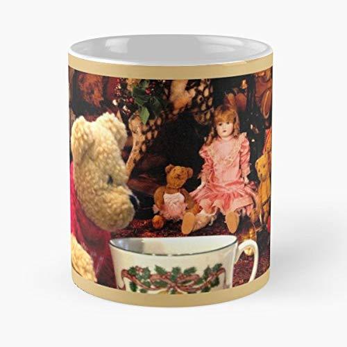 Teddy Bears Tea Cups Christmas Toys - Handmade Funny 11oz Mug Best Holidays Gifts For Men Women Friends.