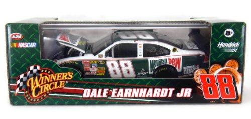 Dale Earnhardt Jr #88 Mountain Dew Retro Old School New School Darlington Winners Circle 1/24 Scale Diecast With Hard Acrylic Display Case