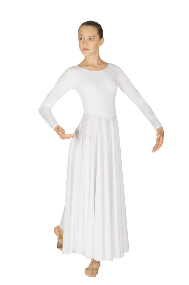 Eurotard Women's 13524 Adult Dance Dress (White, Small) by Eurotard