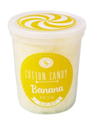 Yellow Banana Gourmet Flavored Cotton Candy - Unique Idea for Holidays, Birthdays, Gag Gifts, Party Favors