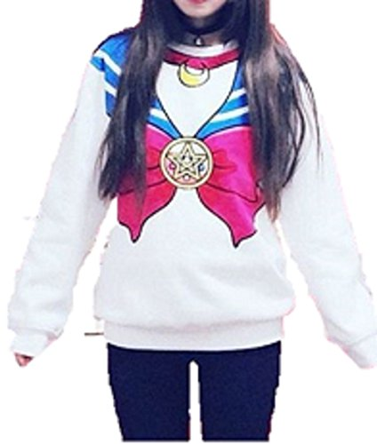 T2C Japanese Anime Harajuku sweater sister Sailor crew neck cute costume (Spirit Halloween Costume Coupon)
