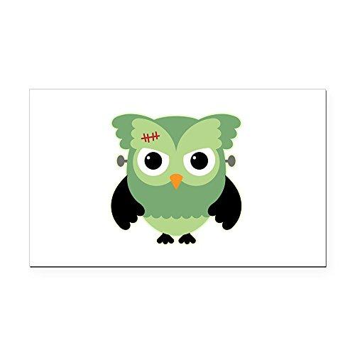 (Rectangle Car Magnet Spooky Little Owl Frankenstein Monster)