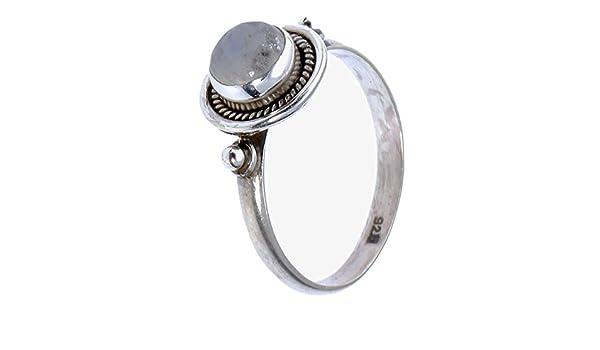 CHIC de Net Plata Piedra de luna anillos Discos de perlas trenzado redondo plata de ley 925 anillos joyas 56 (17.8): Chic-Net: Amazon.es: Joyería