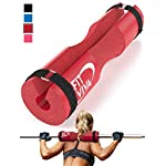 Fit Viva Barbell Pad for Standard and Olympic Barbells with Safety Straps Bonus 30 Day Challenge – Foam Pad for…
