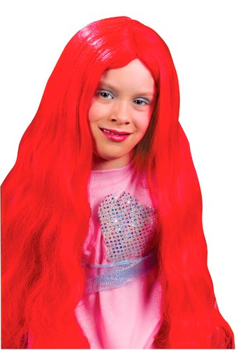[Girls Red Disney Mermaid Wig for Halloween Costume] (Little Mermaid Wig For Adults)