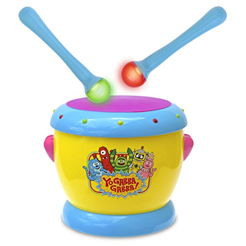 YO GABBA GABBA Music Drums with Light Up Sticks