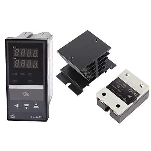 Uxcell a15111100ux0297 PID Thermostat Temperature Controller, Solid State Relay SSR-25 DA, Heat Sink by uxcell