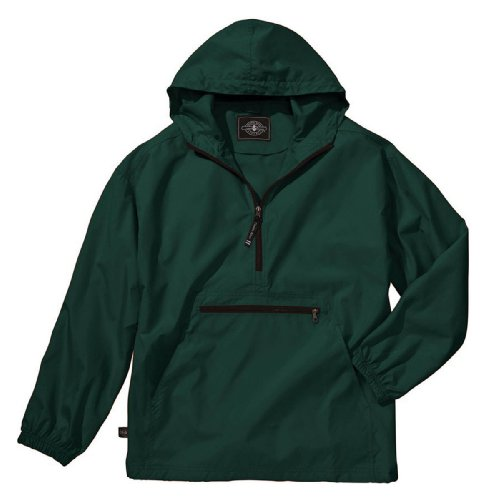 Charles River Apparel Unisex Youth Pack- N- Go Pullover, Large Forest