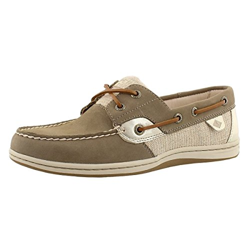 Sperry Top-Sider Women's Koifish Metallic Mesh Boat Shoe,Taupe Leather,US 9 M ()