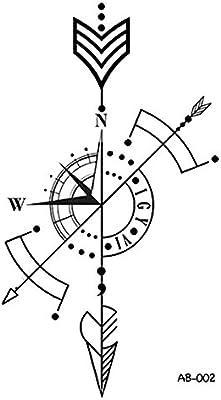 wyuen 5 hojas flecha reloj impermeable de tatuaje temporal tatuaje ...