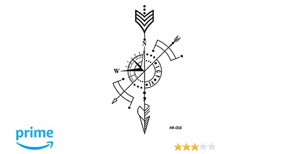 Amazon.com : WYUEN 5 Sheets Arrow Temporary Tattoo Waterproof Tattoo Sticker For Women Men Hand Body Art 9.8X6cm (AB-002) : Beauty