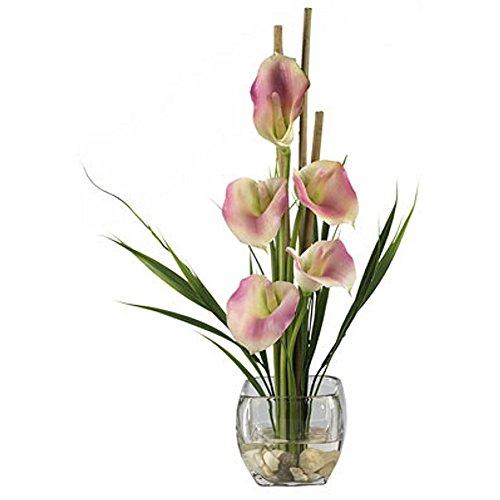 - Pink Calla Lilly Liquid Illusion Flower Arrangement