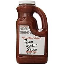 Bone Suckin Gourmet Foods BBQ Sauce, Thicker Original, 64 Ounce