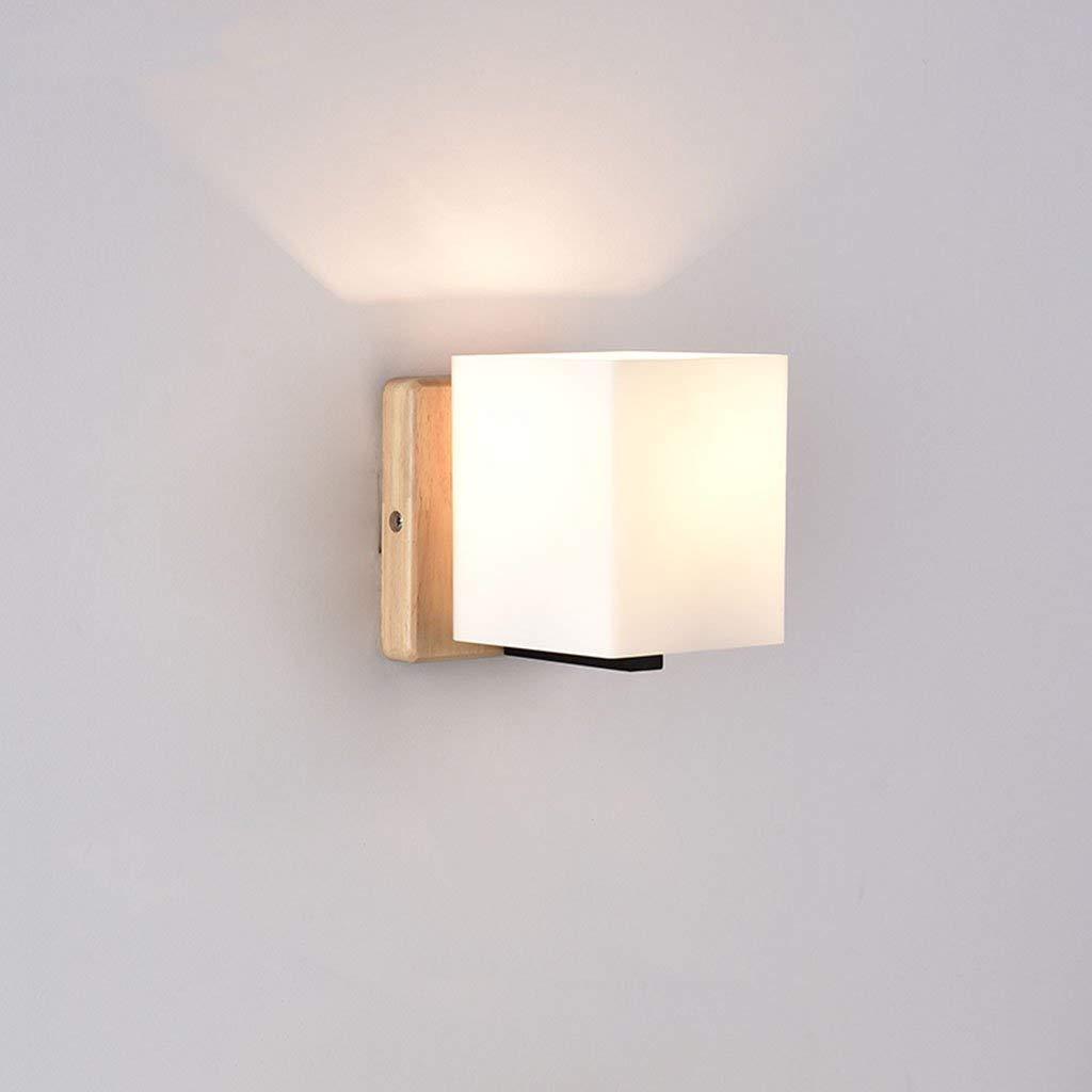 Wand Lampe E27 Holz Schlafzimmer Bett modernen minimalistischen LED-Bett (Farbe  A)