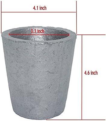 Grafito de carburo de silicio Metal crisol de fusión Crisol todos ...