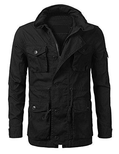 ter Hip Hop Basic Button Up Field Jacket Black, XL ()