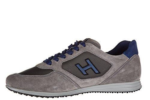 Hogan chaussures baskets sneakers homme en daim olympia h205 gris